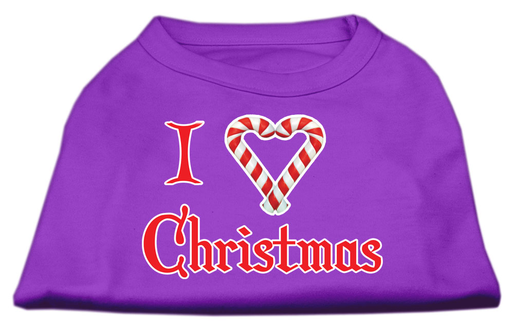 I Heart Christmas Screen Print Shirt  Purple XXXL (20)