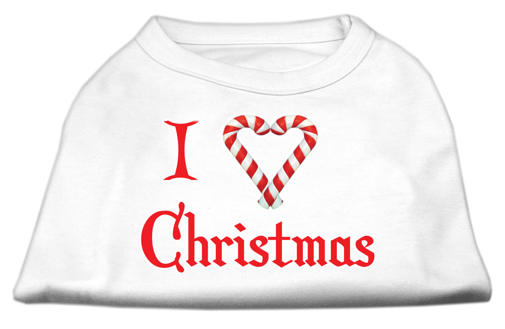 I Heart Christmas Screen Print Shirt  White Lg (14)
