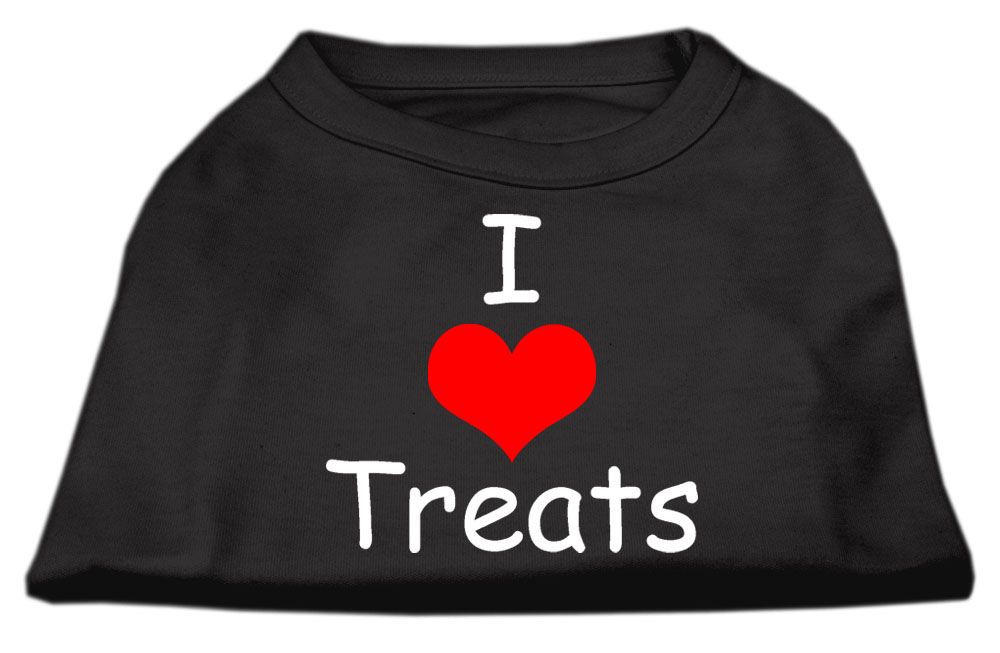 I Love Treats Screen Print Shirts Black  Med (12)