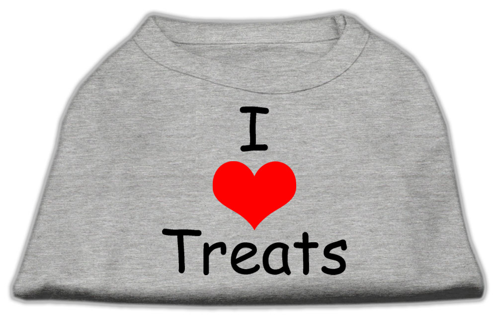 I Love Treats Screen Print Shirts Grey XXXL (20)