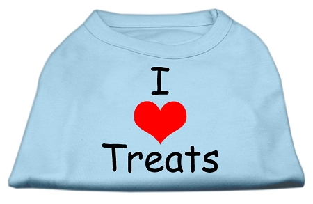 I Love Treats Screen Print Shirts Baby Blue XL (16)