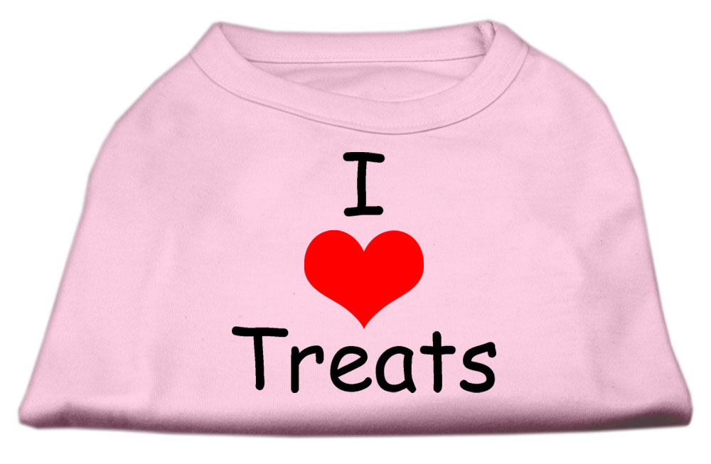I Love Treats Screen Print Shirts Pink XXL (18)