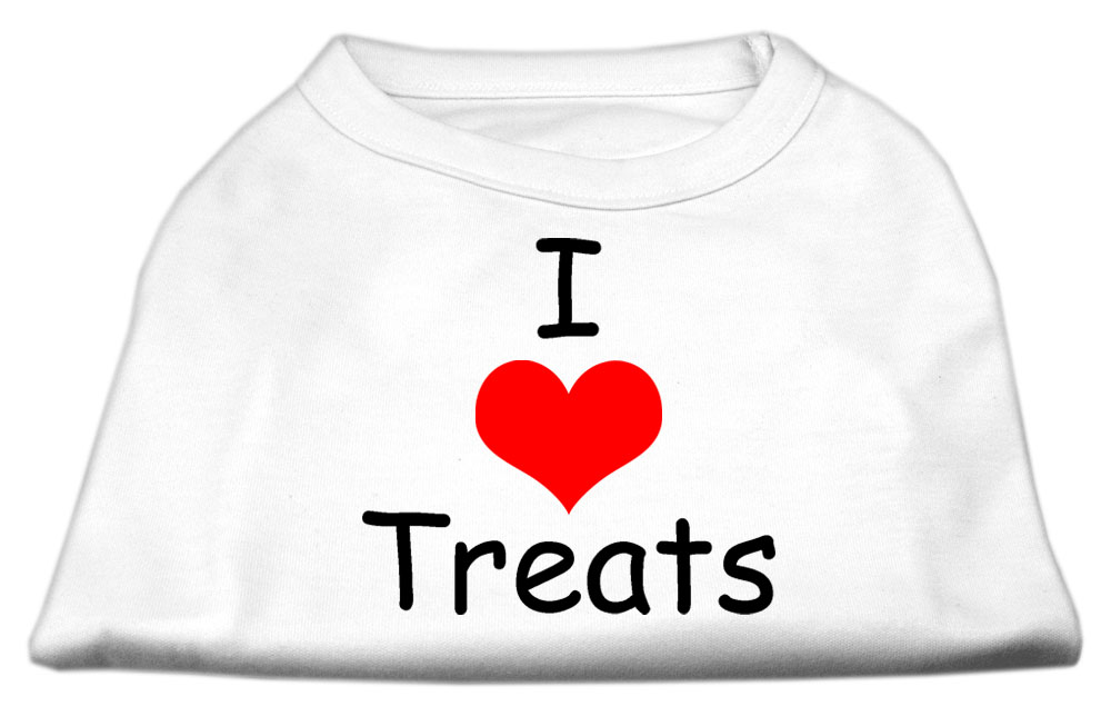 I Love Treats Screen Print Shirts White XXXL (20)