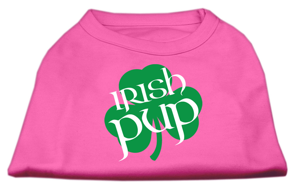 Irish Pup Screen Print Shirt Bright Pink Lg (14)