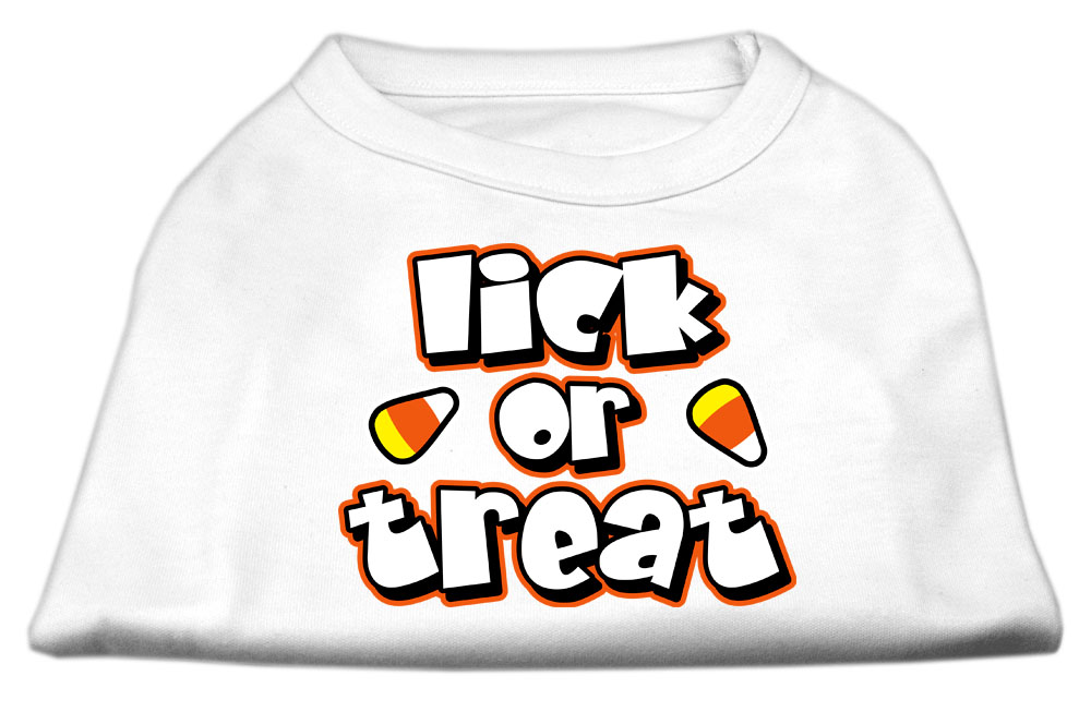 Lick Or Treat Screen Print Shirts White XL (16)