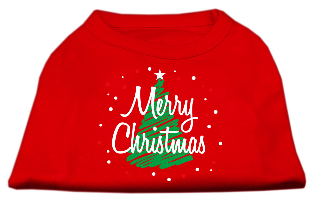 Scribbled Merry Christmas Screenprint Shirts  Red M (12)