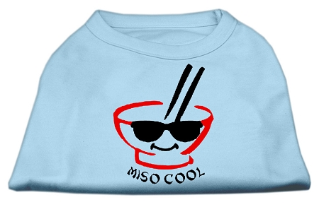 Miso Cool Screen Print Shirts Baby Blue XS (8)