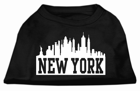 New York Skyline Screen Print Shirt Black XXXL (20)