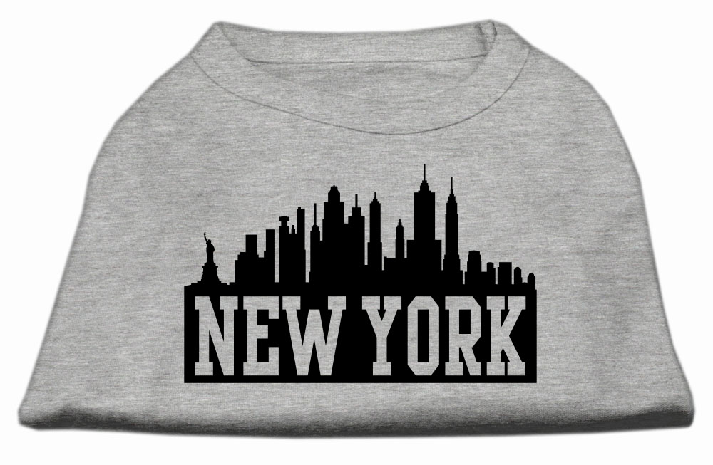 New York Skyline Screen Print Shirt Grey XXL (18)