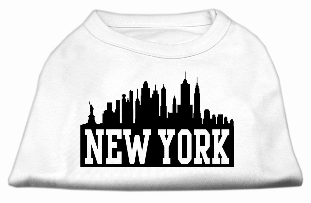 New York Skyline Screen Print Shirt White XXL (18)