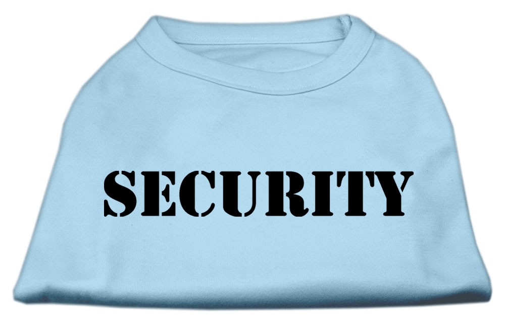 Security Screen Print Shirts Baby Blue w/ black text XS (8)