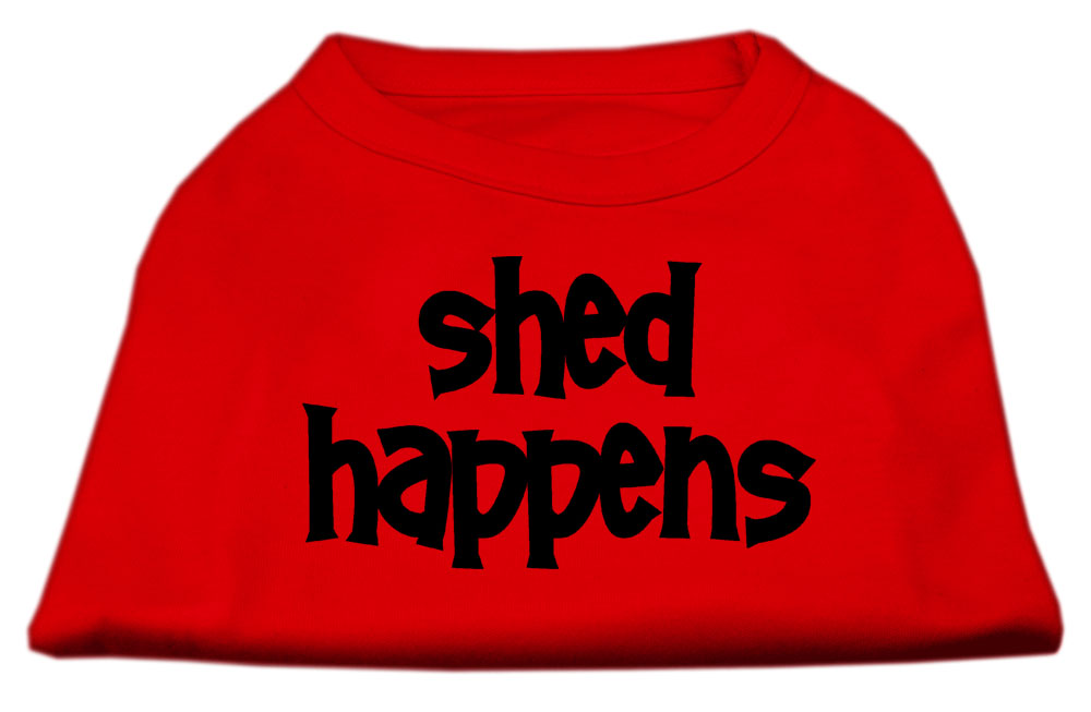 Shed Happens Screen Print Shirt Red XXXL (20)