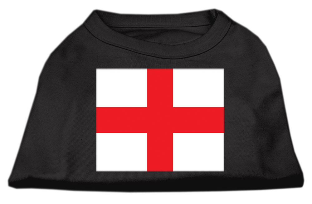 St. George's Cross (English Flag) Screen Print Shirt Black  Med (12)