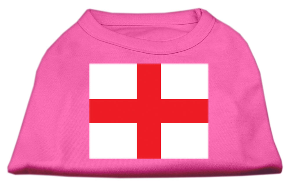 St. George's Cross (English Flag) Screen Print Shirt Bright Pink XL (16)