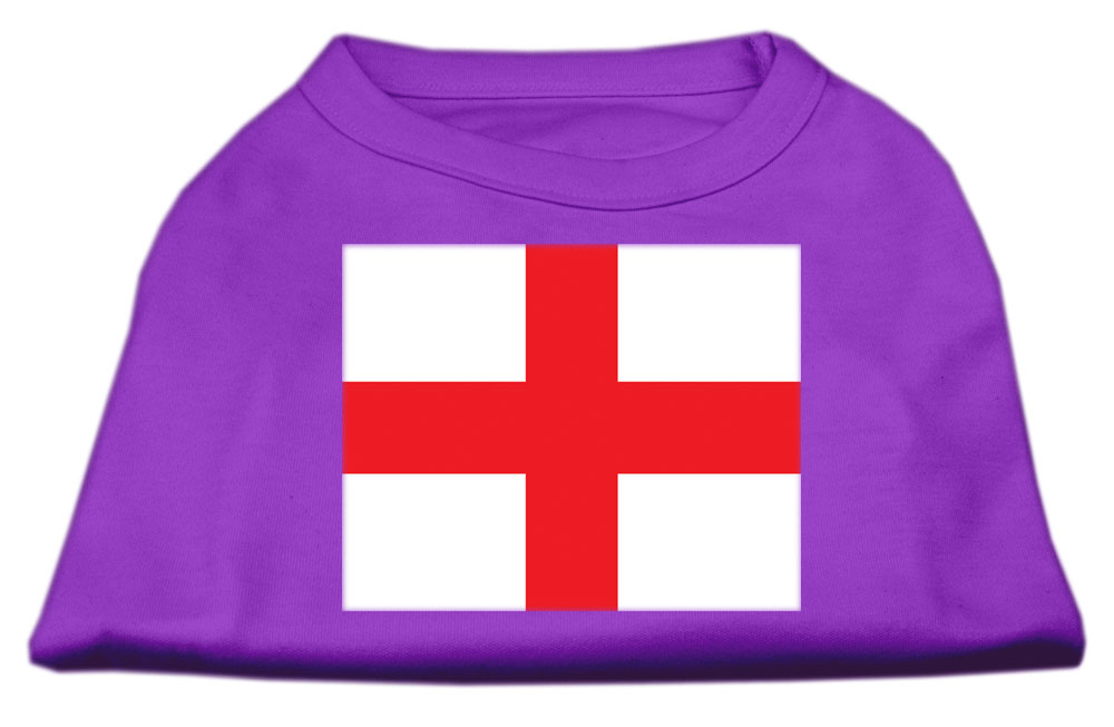 St. George's Cross (English Flag) Screen Print Shirt Purple XXXL (20)