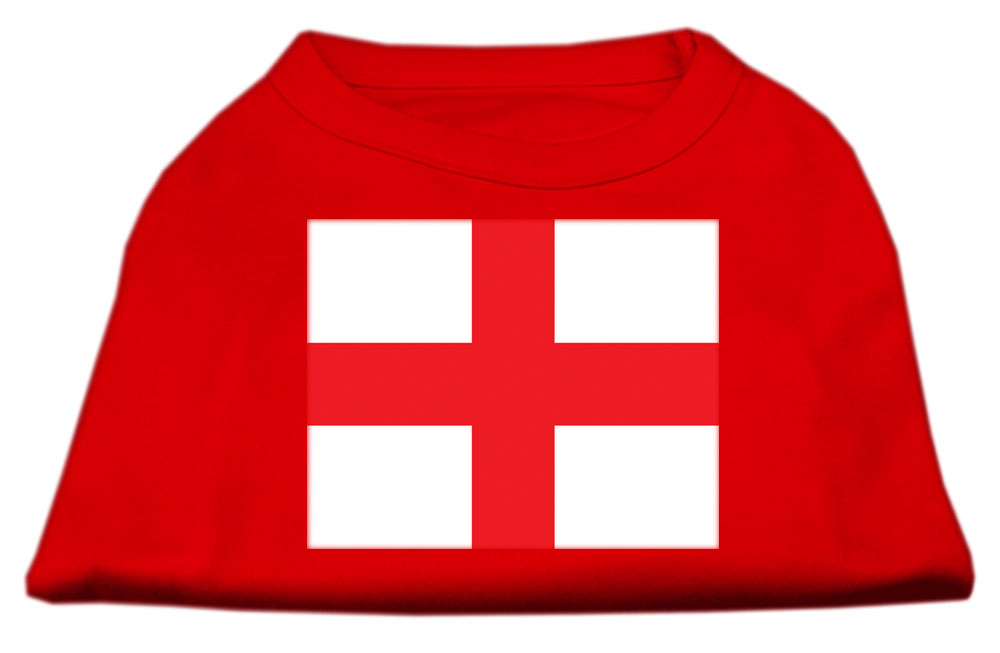 St. George's Cross (English Flag) Screen Print Shirt Red Med (12)