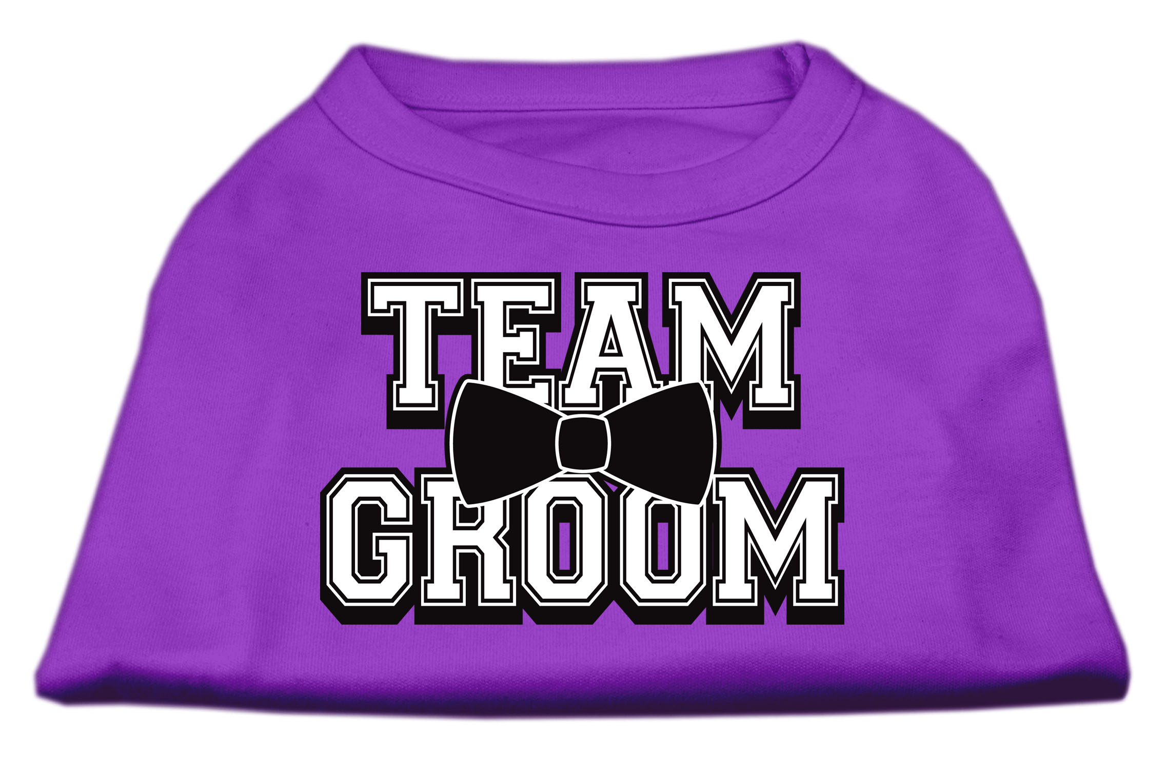Team Groom Screen Print Shirt Purple Lg (14)
