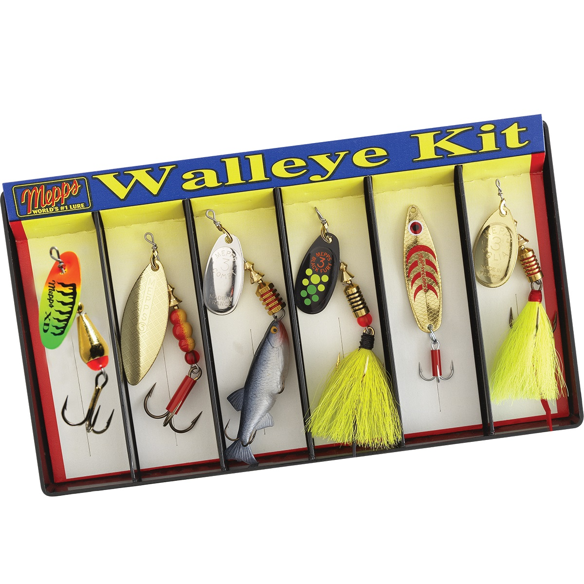 Mepps Walleye Kit - Plain and Dressed Lure Assortment
