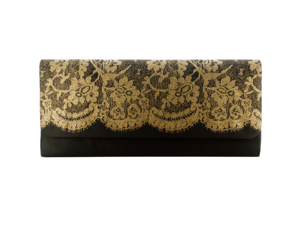 Case of 24 - Ladies Clutch Bag with Lace Print