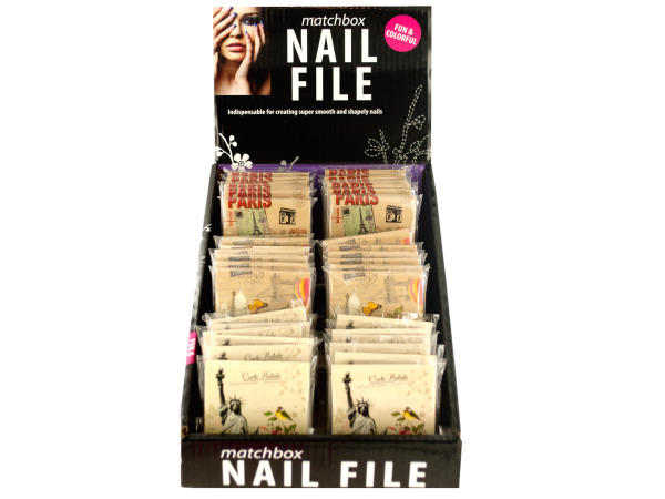 Case of 0 - Nail File Matchbook Counter Top Display