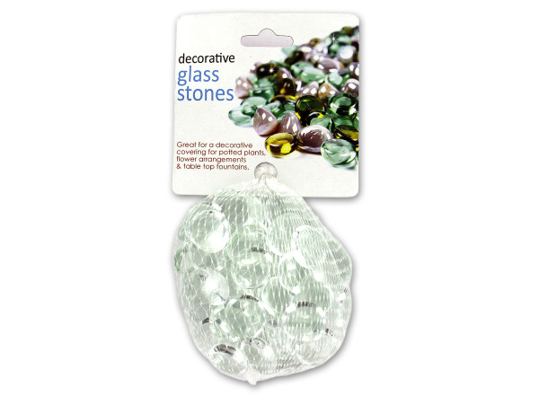 Case of 24 - Clear Decorative Glass Stones