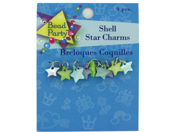 Case of 24 - Pastel Shell Star Charms