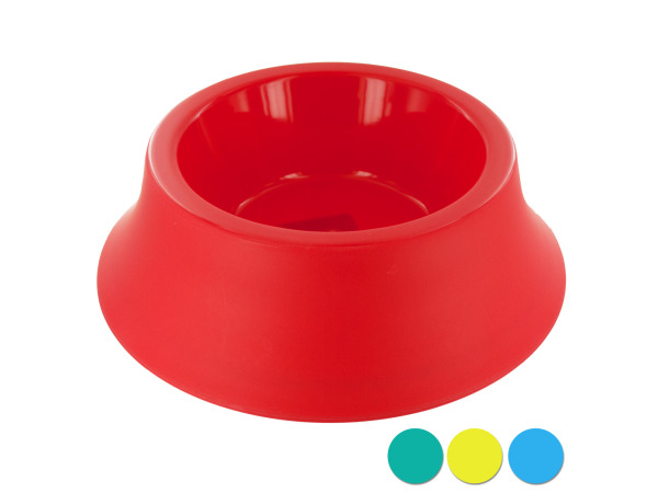 Case of 12 - Medium Size Round Plastic Pet Bowl