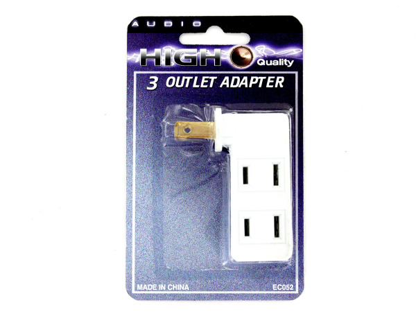 Case of 24 - 3-in-1 Outlet Adapter