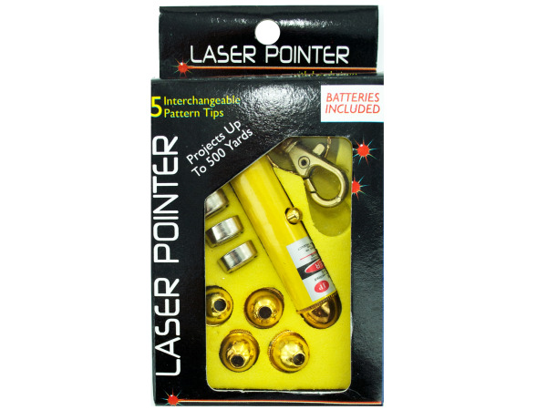 Case of 25 - Laser Pointer With Interchangeable Heads