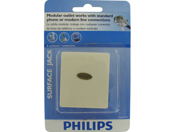 Case of 24 - Philips 6 Conductor Surface Jack