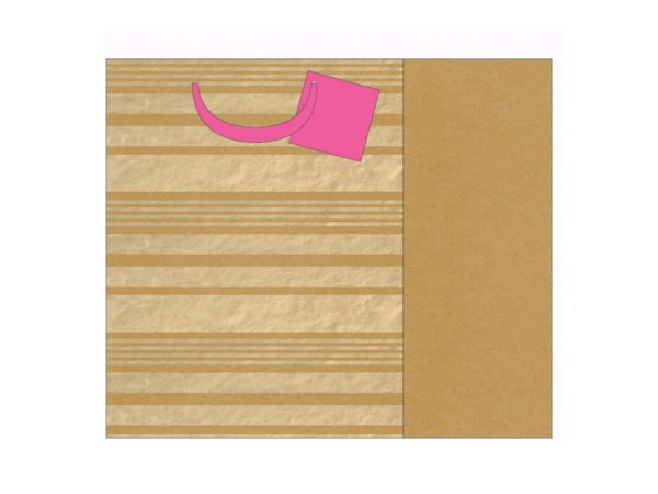 Case of 24 - Gold Striped Gift Bag