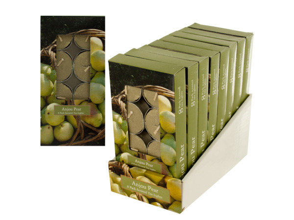 Case of 0 - Anjou Pear Scented Tea Lights Countertop Display