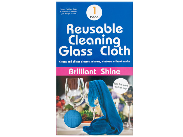 Case of 12 - Reusable Microfiber Glass Cleaning Cloth