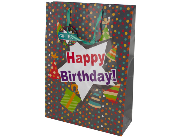 Case of 24 - Happy Birthday Party Hats Gift Bag