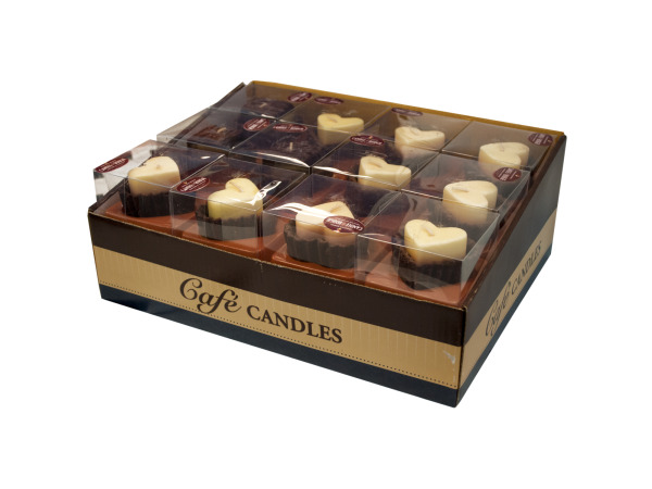 Case of 0 - Hearts & Brownies Chocolate Scented Candles Display