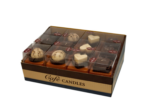 Case of 0 - Sweet Treats Chocolate Scented Candles Display