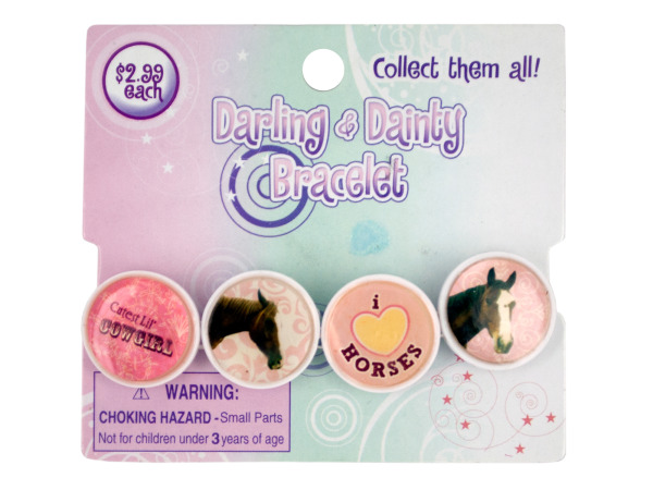 Case of 24 - Darling & Dainty Epoxy Link Bracelet