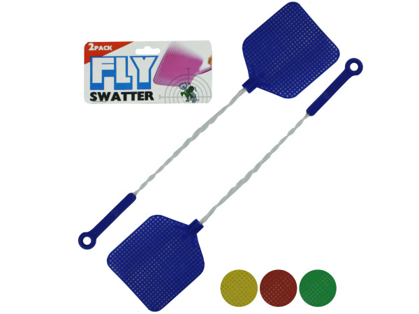 Case of 24 - Fly Swatters with Wire Handles