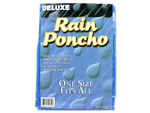 Case of 24 - Hooded Rain Poncho