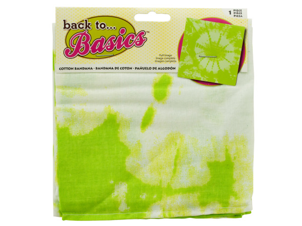 Case of 18 - Lime Green Tie Dye Bandana