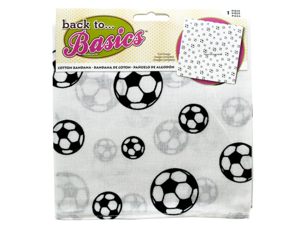 Case of 18 - Black & White Soccer Bandana