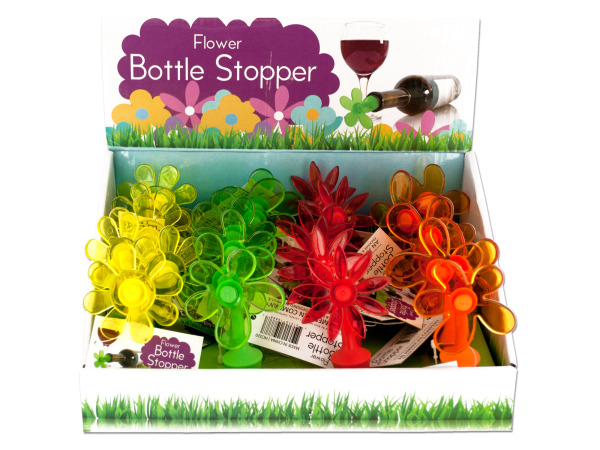 Case of 0 - Flower Bottle Stopper Counter Top Display