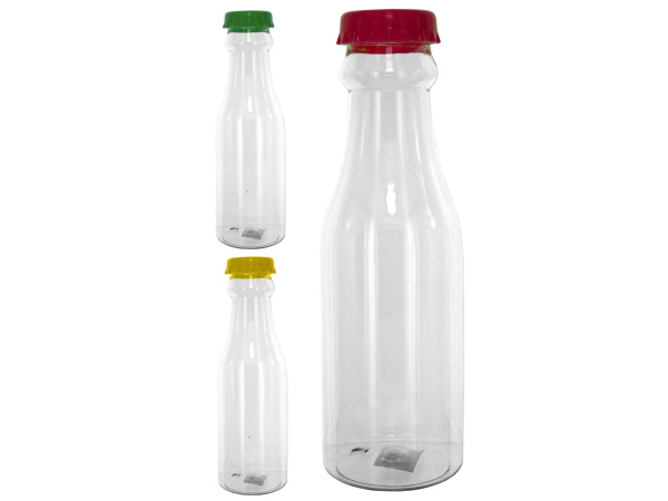 Case of 24 - Plastic Soda Pop Style Drinking Bottle with Cap