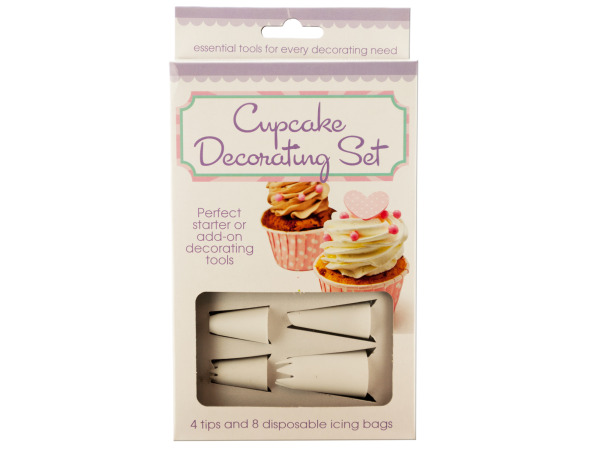 Case of 6 - Cupcake Decorating Set