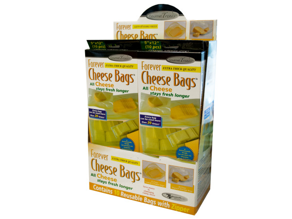 Case of 0 - Forever Cheese Bags Countertop Display