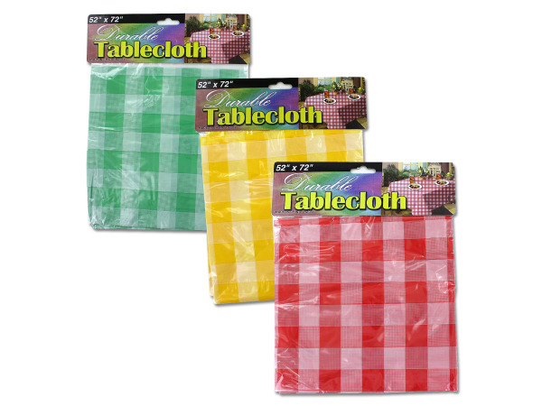 Case of 24 - Checkered Picnic Tablecloth