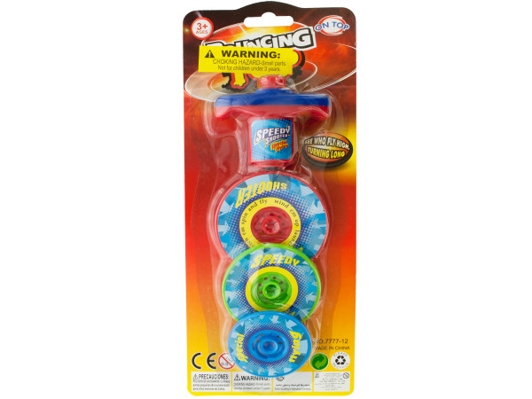 Case of 12 - 3 Layer Bouncing Top Spinner Toy