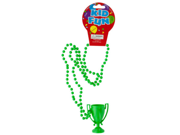 Case of 36 - Green Trophy Party Necklace