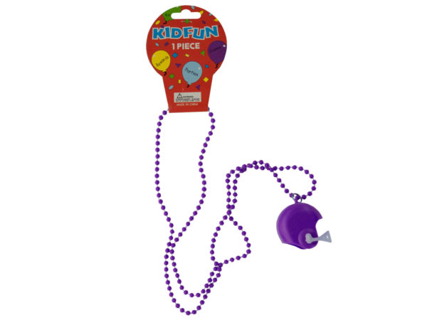 Case of 36 - Purple Football Helmet Party Necklace