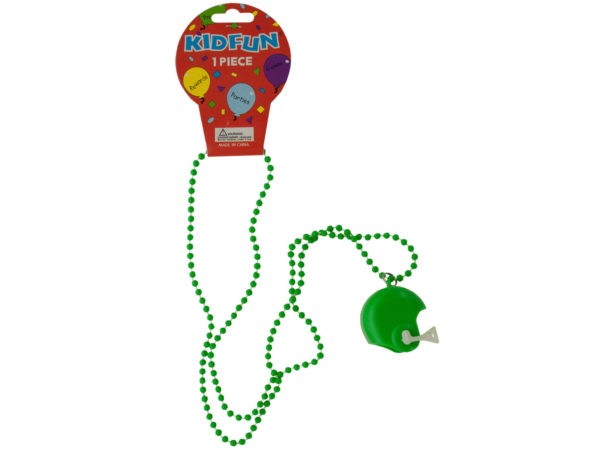 Case of 36 - Green Football Helmet Party Necklace